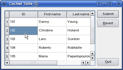 Qt 4 7: Cached Table Example