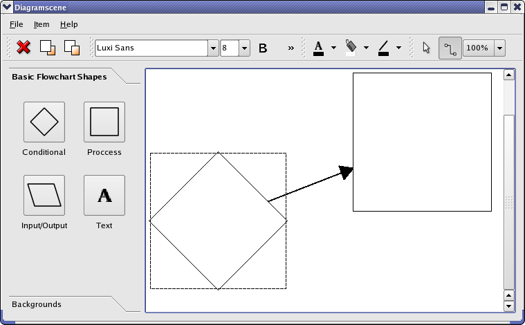 Qt 46 diagram scene example the diagram scene example is an application in which you can create a flowchart diagram it is possible to add flowchart shapes and text and connect the ccuart Gallery