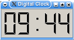 Screenshot of the Digital Clock example