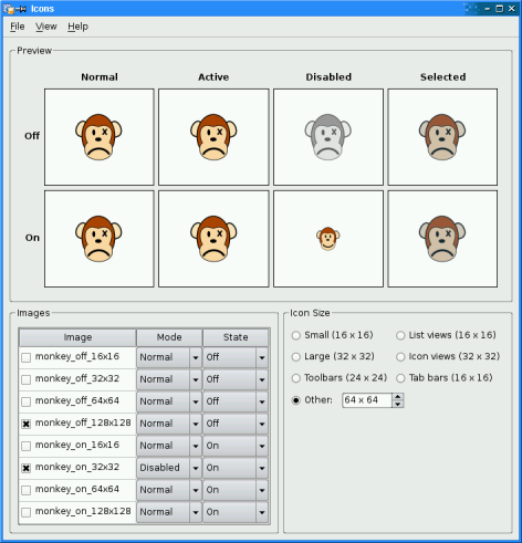 Screenshot of the Monkey Files