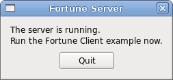 Screenshot of the Local Fortune Server example