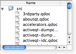 Screenshot of a Macintosh style tree widget