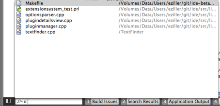 Qt Creator : Searching With the Locator