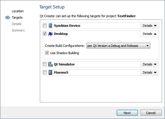 Qt Creator : Creating a Qt Widget Based Application