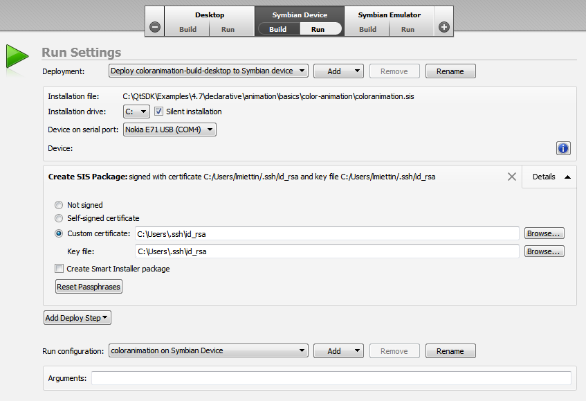 Qt Creator : Deploying Applications to Symbian Devices