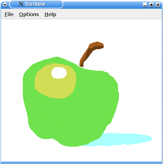Screenshot of the Scribble example