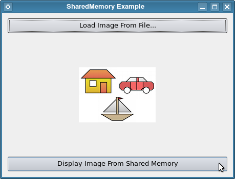 Screenshot of the Shared Memory example