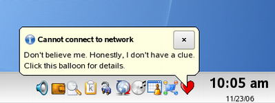 Screenshot of the System Tray Icon.