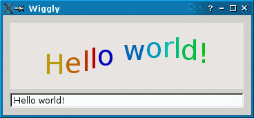 Screenshot of the Wiggly example